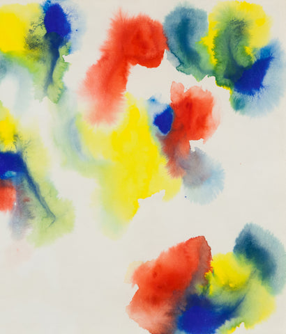 "GERSHON ISKOWITZ ""RISE"" WATERCOLOR, 1977"