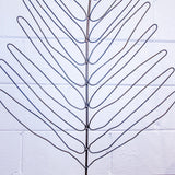 "CURTIS JERE STYLE ""GIANT LEAF"" FLOOR SCULPTURE"
