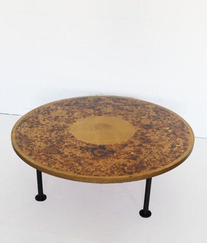 "LARGE ""GOLDENEYE"" COCKTAIL TABLE"