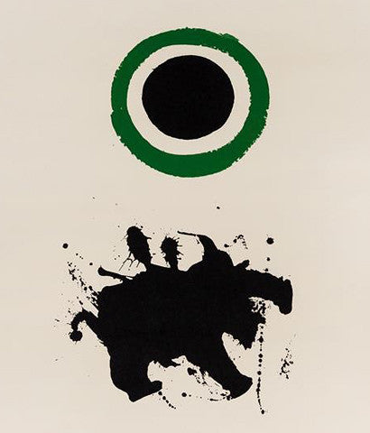 "ADOLPH GOTTLIEB ""GREEN HALO"" SCREENPRINT, 1966"