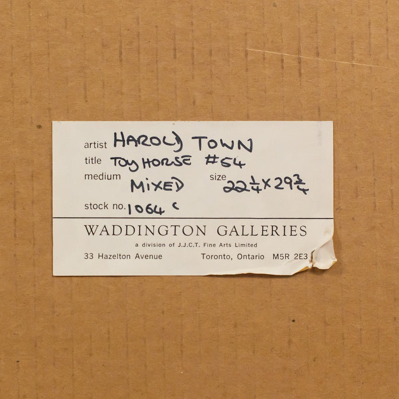"HAROLD TOWN ""TOY HORSE #54"" 1978"