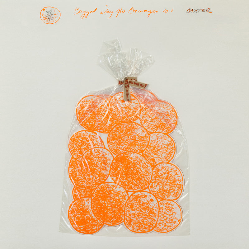 "IAIN BAXTER ""BAGGED DAY-GLO ORANGES"" 1961"