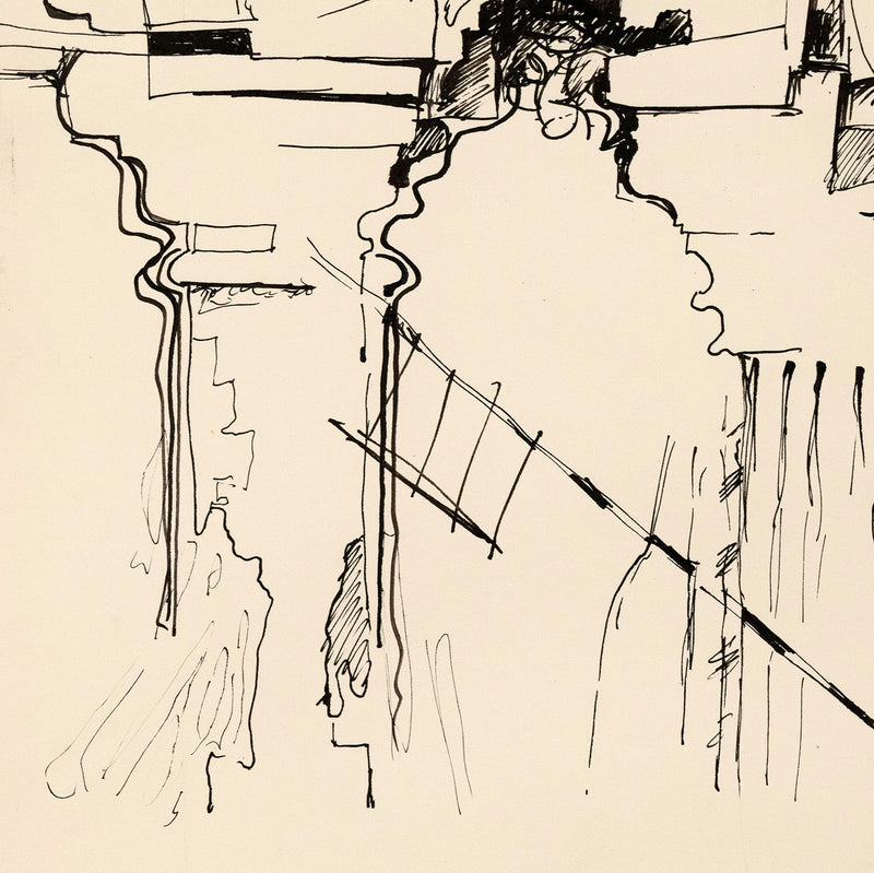 "JACK SHADBOLT ""COLUMN STUDY 3"" DRAWING, 1965"