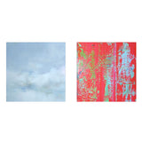 "JAMES LAHEY ""ABSTRACT / CLOUD PORTRAIT"" DIPTYCH, 2000"