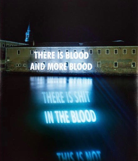 "JENNY HOLZER ""THERE IS BLOOD"" PHOTO, 2001"
