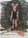 "JOHN SCOTT ""BUNNY"" MIXED MEDIA ON PAPER"