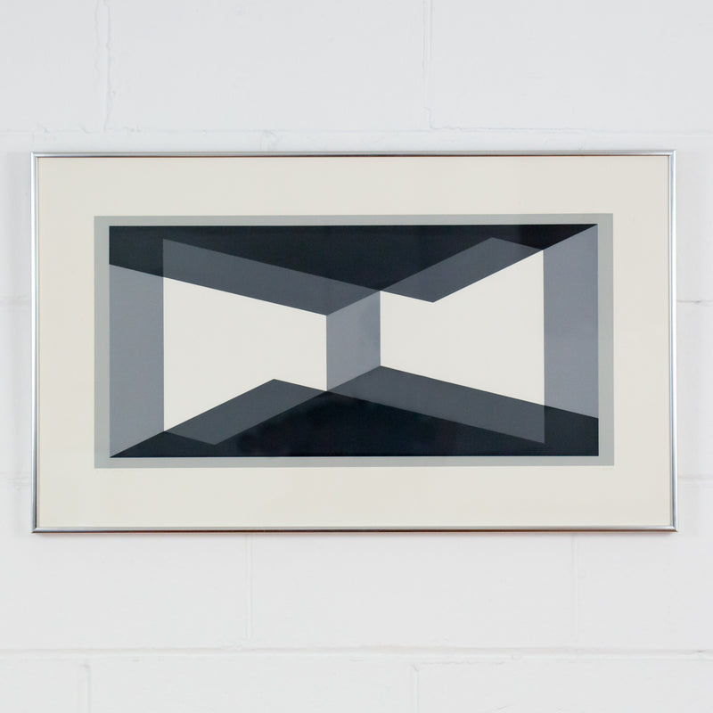 "JOSEF ALBERS ""I-S VV 1"" SCREENPRINT, 1971"