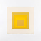 "JOSEF ALBERS ""ORGANIC YELLOW"" SCREENPRINT, 1970"