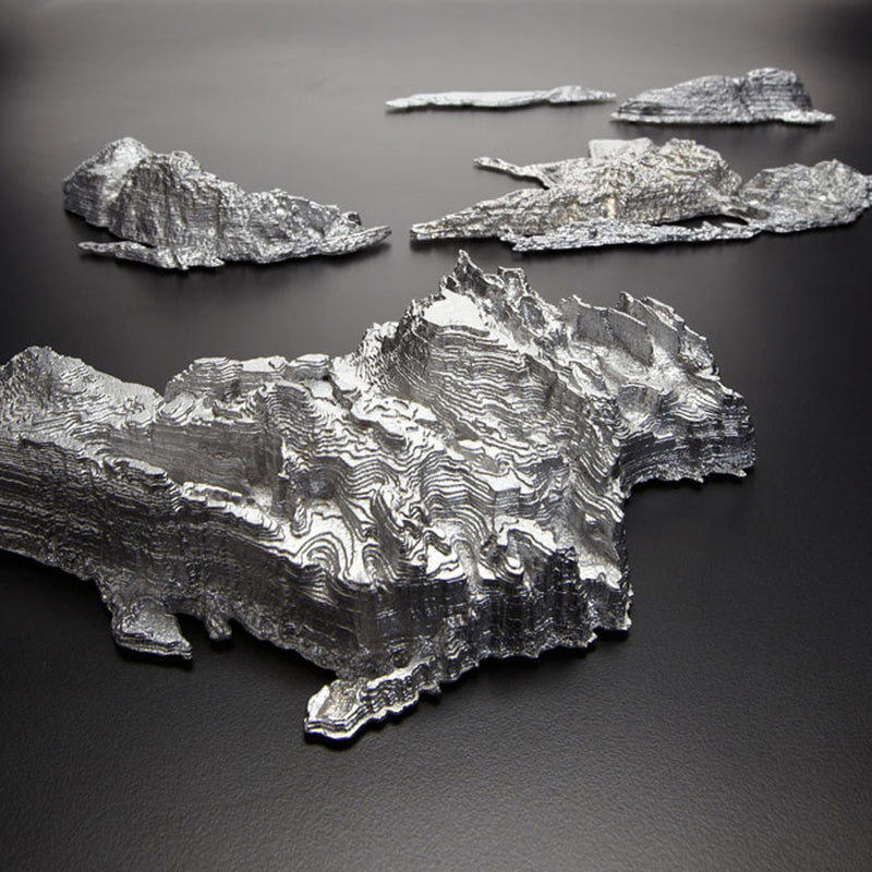 "JOY CHARBONNEAU ""GREAT LAKES"" ALUMINUM WALL SCULPTURE"