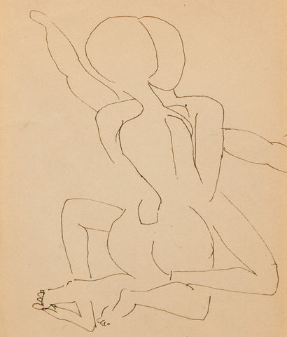 "JOYCE WIELAND ""LOVERS"" DRAWING"
