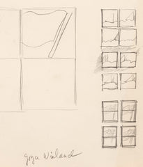 "JOYCE WIELAND ""FLAG SKETCH"" DRAWING"