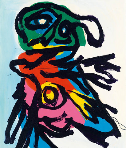 "KAREL APPEL ""PERSONAGE"" PAINTING, 1965"