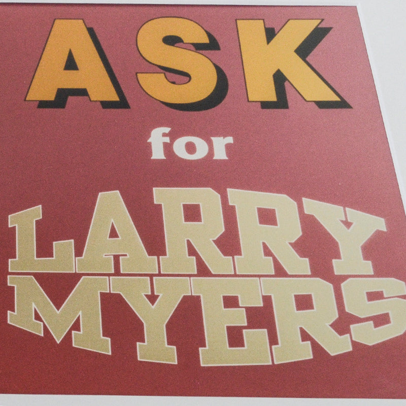 "TEST KEN LUM ""ASK FOR LARRY MYERS"", 1990"