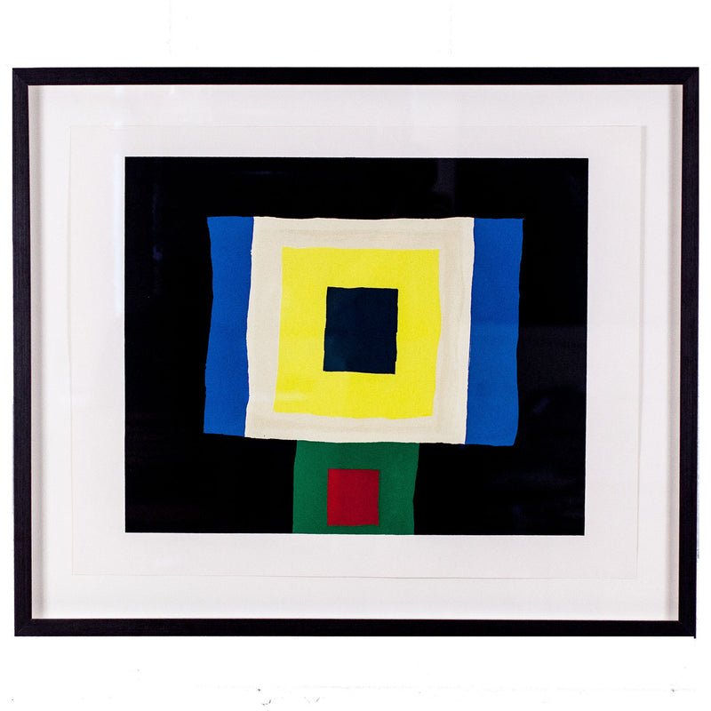 "KENNETH LOCHHEAD ""BLUE EXTENSION"" LITHOGRAPH"
