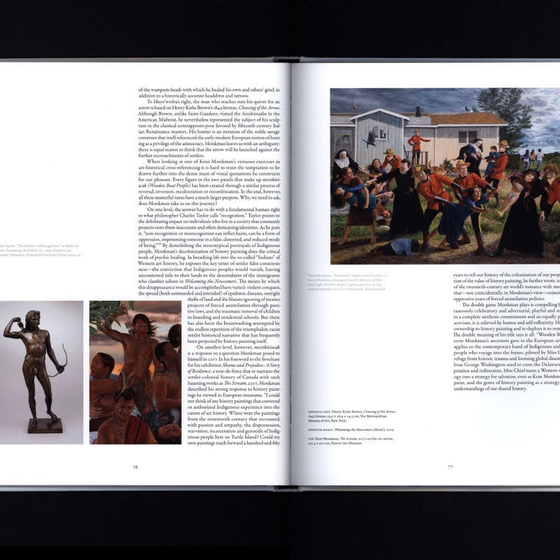 kent monkman Canadian First Nations artist colonial images