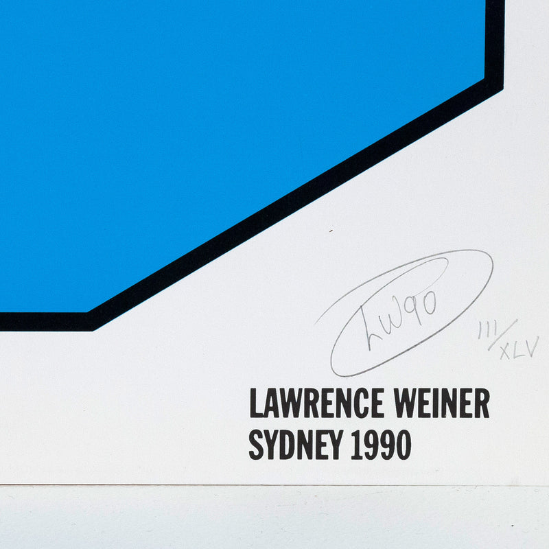Lawrence Weiner prints Caviar20