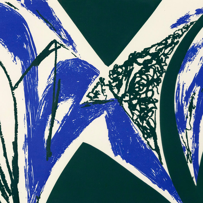 "LEE KRASNER ""FREE SPACE - BLUE"" SCREENPRINT, 1975"