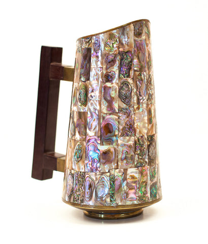 MEXICAN BRASS & MOTHER OF PEARL PITCHER