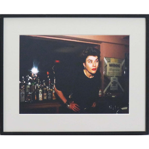 "NAN GOLDIN ""EDWIGE BEHIND THE BAR, 1988"""