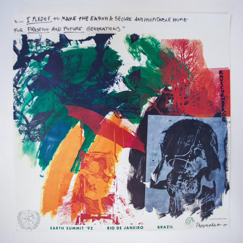"ROBERT RAUSCHENBERG ""RIO EARTH SUMMIT"" LITHO, 1992"
