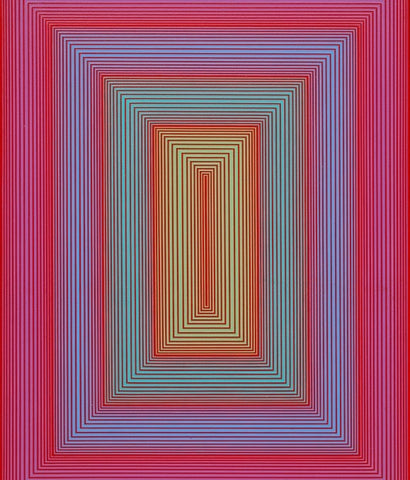 "RICHARD ANUSZKIEWICZ ""INNER SPACE"" PAINTING, 1970"