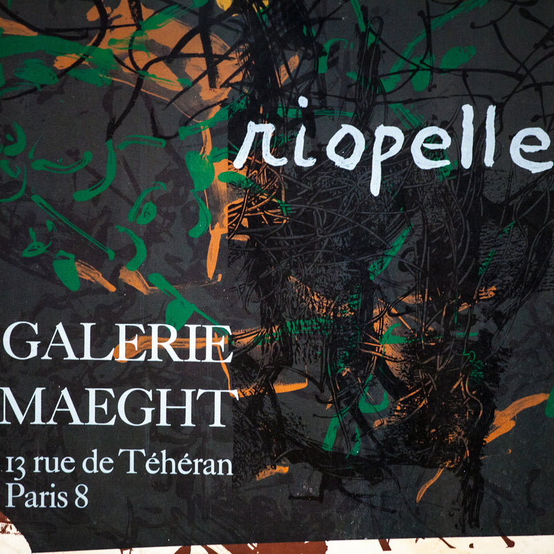 RIOPELLE EXHIBITION POSTER PARIS, 1970
