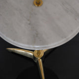 """SHARK FIN"" ITALIAN MARBLE SIDE TABLE"