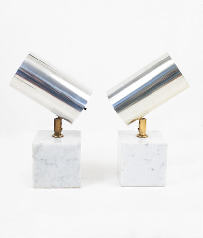 "ROBERT SONNEMAN ""ALUMINUM SPOT"" PAIR OF LAMPS"