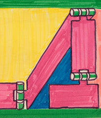"SOREL ETROG ""LA HINGES 2"" DRAWING, 1980"