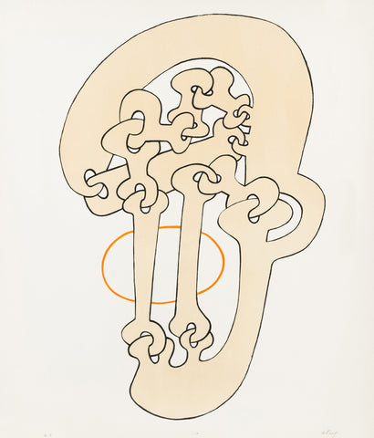 "SOREL ETROG ""ORANGE O"" LITHOGRAPH"