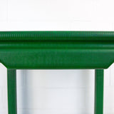 "KARL SPRINGER ""EMERALD PARCHMENT CARD TABLE"""