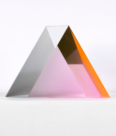 "VASA MIHICH ""BLUSH TRIANGLE"" ACRYLIC SCULPTURE, 1977"