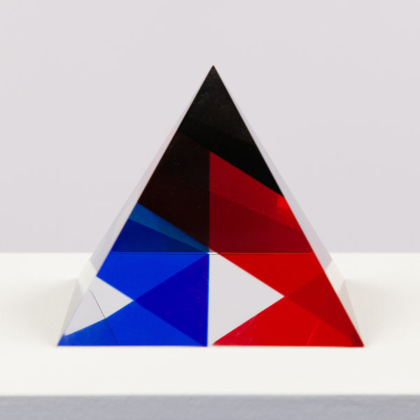 Vasa Mihich triangle acrylic red