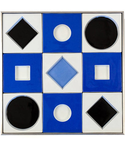 "VASARELY ""PORCELAIN SQUARE RELIEF"" FOR ROSENTHAL"