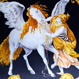 "ATELIER VERSACE ""PEGASUS"" FRINGED PILLOW"