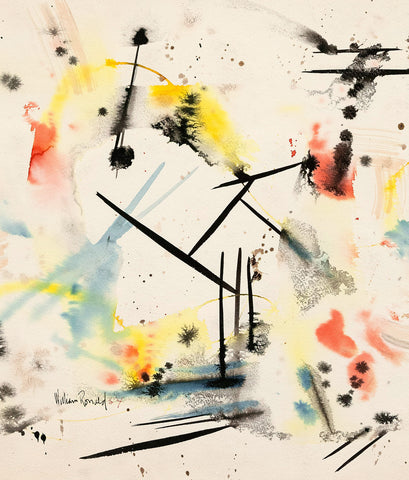 "WILLIAM RONALD ""NY ABSTRACT"" WATERCOLOR, 1954"