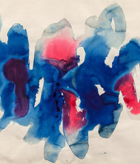 "WILLIAM RONALD ""BLUE RASPBERRY"" WATERCOLOR, 1967"
