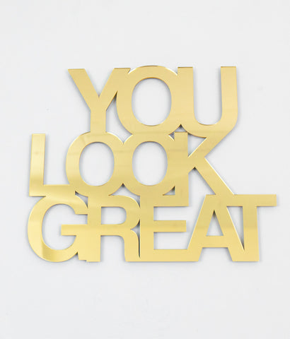 "JADE RUDE ""YOU LOOK GREAT"" SCULPTURE, 2014"
