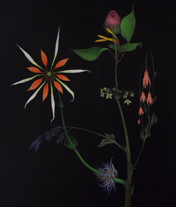 Zachari Logan Fantasy Flowers 2 painting, 2019 Caviar20