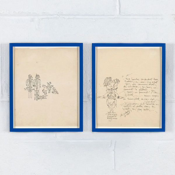 "NIKI DE SAINT PHALLE, ""TWO DRAWINGS"", 1967"