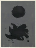 "ADOLPH GOTTLIEB ""BLACK & GREY"" SILKSCREEN, 1967"