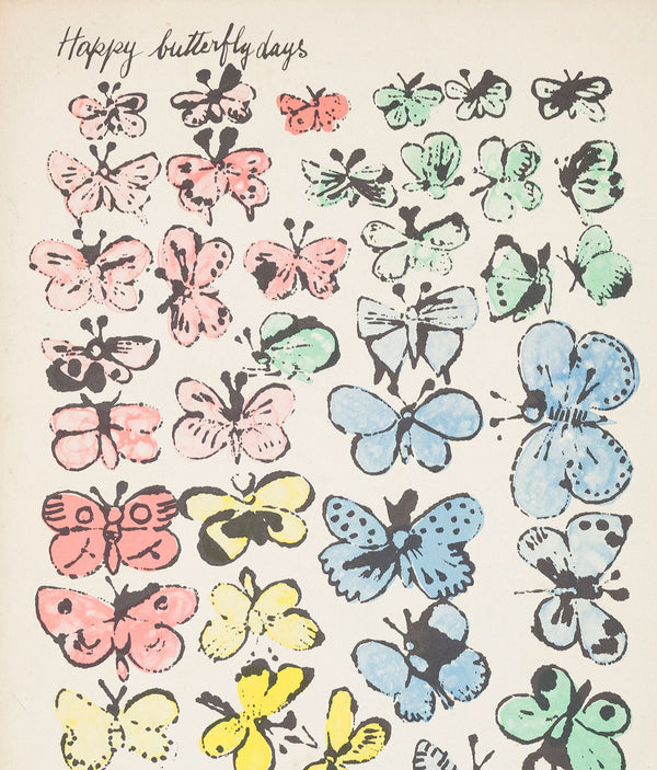 "ANDY WARHOL ""HAPPY BUTTERFLY DAYS"" FOLDER, 1956"