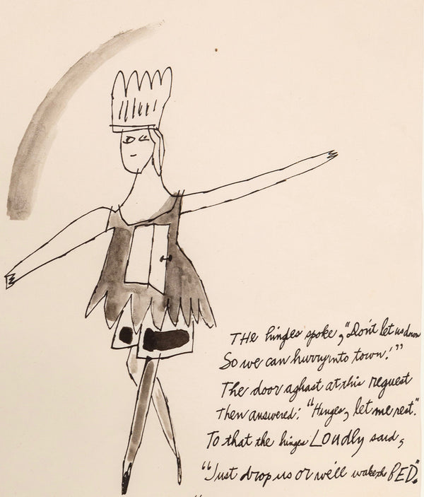 Andy Warhol, Off To Town, Drawing, 1956, Caviar20 Unique Original