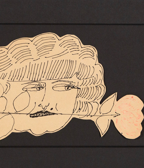 Andy Warhol, Hermione Gingold, Drawing, 1953, Caviar20, Unique Original