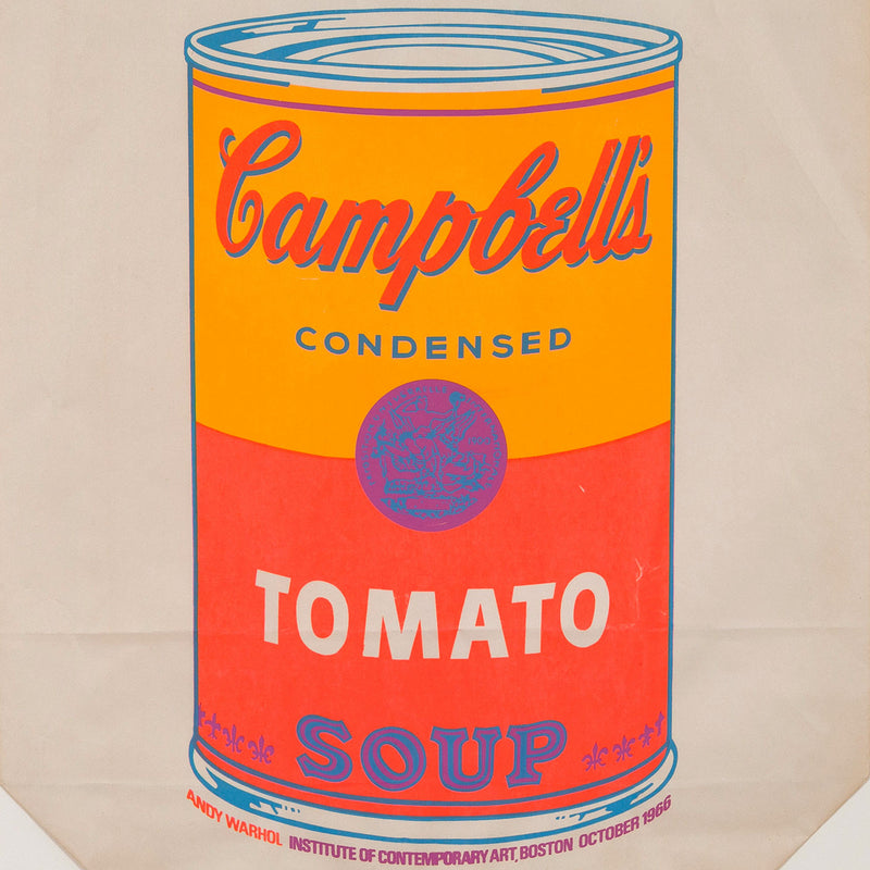 "ANDY WARHOL ""SOUP CAN BAG"" SILKSCREEN, 1966"
