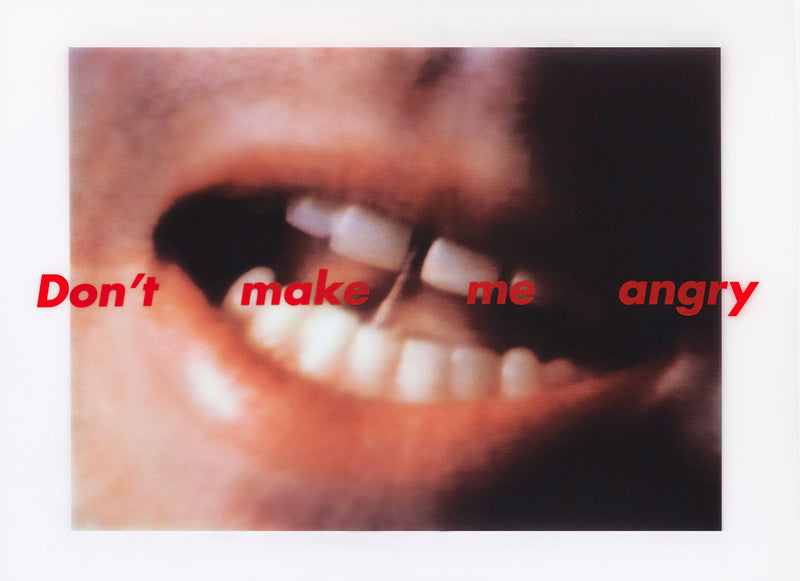 Caviar20 Barbara Kruger Don't Make Me Angry multiples art