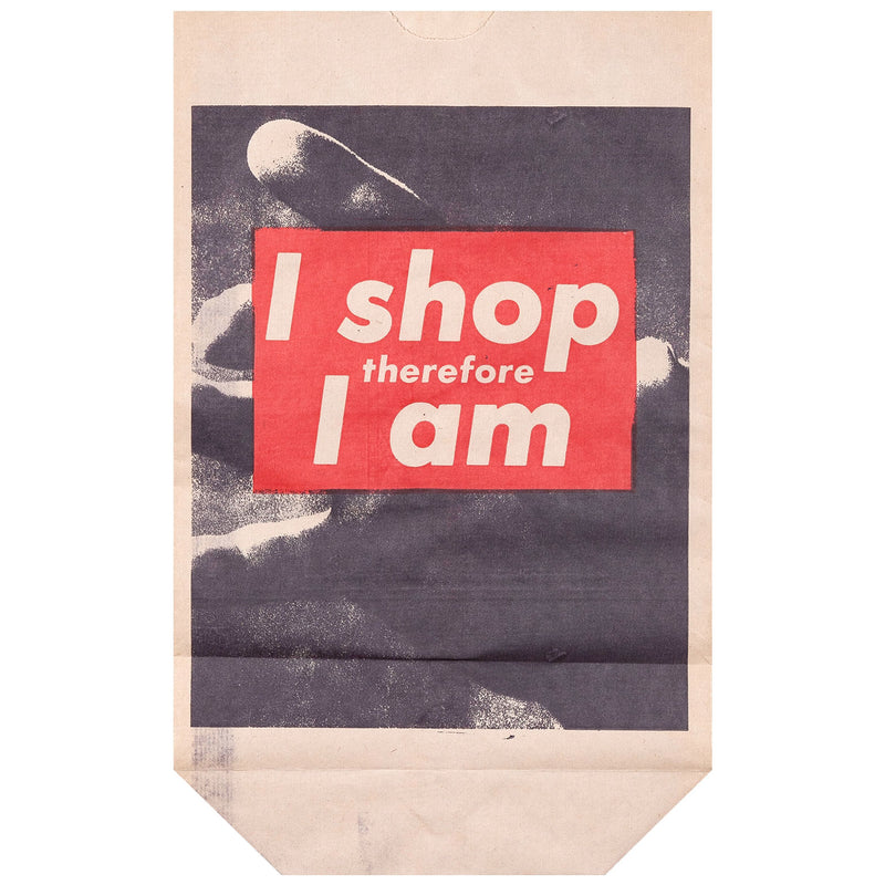 Barbara Kruger multiples I shop therefore I am bag Caviar20