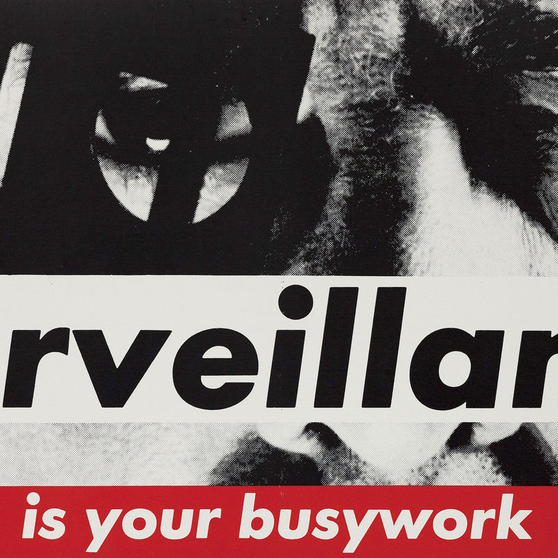 Barbara Kruger new york subway Surveillance prints multiples Caviar20