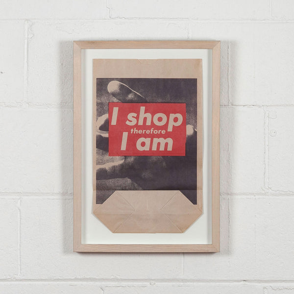 Barbara Kruger I shop therefore I am bag Caviar20
