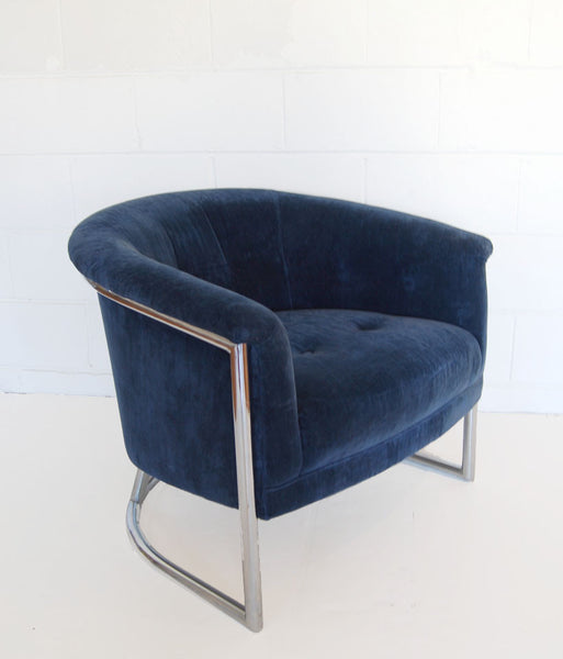 MILO BAUGHMAN STYLE PAIR OF TUB CHAIRS